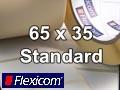 Flexicom Rollenetiketten, Format 65 x 35 mm, PET silber