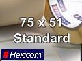Flexicom Rollenetiketten, Format 75 x 51 mm, PET weiß