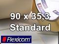 Flexicom Rollenetiketten, Format 90 x 35,3 mm, PET silber
