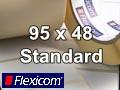 Flexicom Rollenetiketten, Format 95 x 48 mm, PET silber