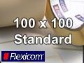 Flexicom Rollenetiketten, Format 100 x 100 mm, PET silber