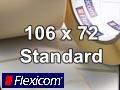 Flexicom Rollenetiketten, Format 106 x 72 mm, PET weiß
