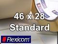 Flexicom Rollenetiketten, Format 46 x 28 mm, PET weiß