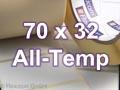 Zebra Rollenetiketten, Format 70 x 32 mm, 8000T All-Temp