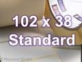 Zebra Rollenetiketten, Format 102 x 38 mm, Z-Perform 1000T