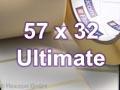 Zebra Rollenetiketten, Format 57 x 32 mm, Z-Ultimate 3000T White