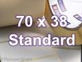 Zebra Rollenetiketten, Format 70 x 38 mm, Z-Perform 1000T