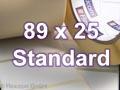 Zebra Rollenetiketten, Format 89 x 25 mm, Z-Perform 1000T