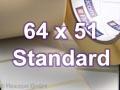 Zebra Rollenetiketten, Format 64 x 51 mm, Z-Perform 1000T