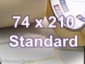 Zebra Rollenetiketten, Format 74 x 210 mm, Z-Perform 1000T