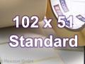 Zebra Rollenetiketten, Format 102 x 51 mm, Z-Perform 1000T