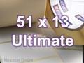 Zebra Rollenetiketten, Format 51 x 13 mm, Z-Ultimate 3000T White