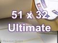 Zebra Rollenetiketten, Format 51 x 32 mm, Z-Ultimate 3000T White