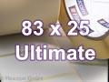 Zebra Rollenetiketten, Format 83 x 25 mm, Z-Ultimate 3000T White