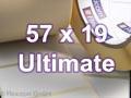 Zebra Rollenetiketten, Format 57 x 19 mm, Z-Ultimate 3000T Silver