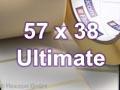 Zebra Rollenetiketten, Format 57 x 38 mm, Z-Ultimate 3000T Silver