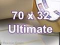 Zebra Rollenetiketten, Format 70 x 32 mm, Z-Ultimate 3000T Silver