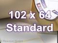 Zebra Rollenetiketten, Format 102 x 64 mm, Z-Perform 1000T