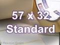 Zebra Rollenetiketten, Format 57 x 32 mm, Z-Perform 1000T