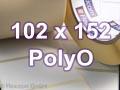Zebra Rollenetiketten, Format 102 x 152 mm, PolyO 3100T
