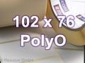 Zebra Rollenetiketten, Format 102 x 76 mm, PolyO 3100T